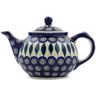 30 oz Stoneware Tea or Coffee Pot - Polmedia Polish Pottery H9404J