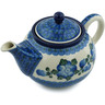 30 oz Stoneware Tea or Coffee Pot - Polmedia Polish Pottery H9605B