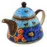 33 oz Stoneware Tea or Coffee Pot - Polmedia Polish Pottery H3846K