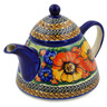 33 oz Stoneware Tea or Coffee Pot - Polmedia Polish Pottery H3914K