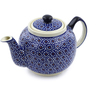 34 oz Stoneware Tea or Coffee Pot - Polmedia Polish Pottery H1142D