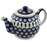 34 oz Stoneware Tea or Coffee Pot - Polmedia Polish Pottery H5050C
