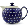 39 oz Stoneware Tea or Coffee Pot - Polmedia Polish Pottery H2607D