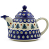 39 oz Stoneware Tea or Coffee Pot - Polmedia Polish Pottery H8796E