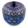 4-inch Stoneware Apple Shaped Jar - Polmedia Polish Pottery H0054I