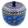 4-inch Stoneware Apple Shaped Jar - Polmedia Polish Pottery H0056I