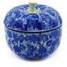4-inch Stoneware Apple Shaped Jar - Polmedia Polish Pottery H9640E