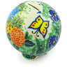 4-inch Stoneware Ball Piggy Bank - Polmedia Polish Pottery H5008G