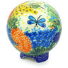 4-inch Stoneware Ball Piggy Bank - Polmedia Polish Pottery H5323G