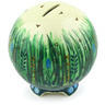 4-inch Stoneware Ball Piggy Bank - Polmedia Polish Pottery H6349G