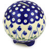 4-inch Stoneware Ball Piggy Bank - Polmedia Polish Pottery H9685F