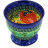 4-inch Stoneware Bowl with Pedestal - Polmedia Polish Pottery H1422D