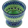 4-inch Stoneware Bowl with Pedestal - Polmedia Polish Pottery H4837H