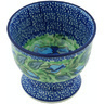 4-inch Stoneware Bowl with Pedestal - Polmedia Polish Pottery H5031H