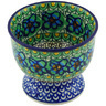 4-inch Stoneware Bowl with Pedestal - Polmedia Polish Pottery H5481G