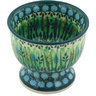 4-inch Stoneware Bowl with Pedestal - Polmedia Polish Pottery H6213G