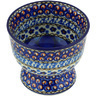 4-inch Stoneware Bowl with Pedestal - Polmedia Polish Pottery H6971G