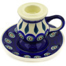 4-inch Stoneware Candle Holder - Polmedia Polish Pottery H0192E