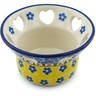 4-inch Stoneware Candle Holder - Polmedia Polish Pottery H0198I