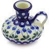 4-inch Stoneware Candle Holder - Polmedia Polish Pottery H4578G