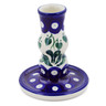 4-inch Stoneware Candle Holder - Polmedia Polish Pottery H6354B