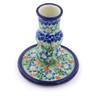4-inch Stoneware Candle Holder - Polmedia Polish Pottery H7718I