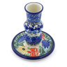 4-inch Stoneware Candle Holder - Polmedia Polish Pottery H7720I