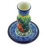 4-inch Stoneware Candle Holder - Polmedia Polish Pottery H7721I