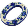 4-inch Stoneware Hanging Number - Polmedia Polish Pottery H0274G