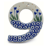 4-inch Stoneware Hanging Number - Polmedia Polish Pottery H0421J