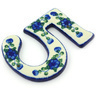 4-inch Stoneware Hanging Number - Polmedia Polish Pottery H5969G