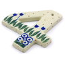 4-inch Stoneware Hanging Number - Polmedia Polish Pottery H7232I