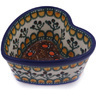 4-inch Stoneware Heart Shaped Bowl - Polmedia Polish Pottery H0638G