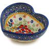 4-inch Stoneware Heart Shaped Bowl - Polmedia Polish Pottery H2701K