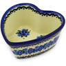 4-inch Stoneware Heart Shaped Bowl - Polmedia Polish Pottery H4018D