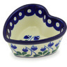 4-inch Stoneware Heart Shaped Bowl - Polmedia Polish Pottery H5016G