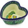 4-inch Stoneware Heart Shaped Bowl - Polmedia Polish Pottery H5343G