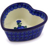 4-inch Stoneware Heart Shaped Bowl - Polmedia Polish Pottery H8014C