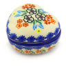 4-inch Stoneware Heart Shaped Jar - Polmedia Polish Pottery H2129G