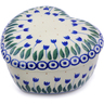 4-inch Stoneware Heart Shaped Jar - Polmedia Polish Pottery H7225I