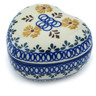 4-inch Stoneware Heart Shaped Jar - Polmedia Polish Pottery H9826H