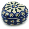 4-inch Stoneware Heart Shaped Jar - Polmedia Polish Pottery H9835H
