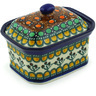 4-inch Stoneware Jar with Lid - Polmedia Polish Pottery H0028F