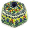 4-inch Stoneware Jar with Lid - Polmedia Polish Pottery H0085G