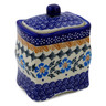 4-inch Stoneware Jar with Lid - Polmedia Polish Pottery H0219K