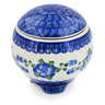 4-inch Stoneware Jar with Lid - Polmedia Polish Pottery H0317K