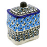 4-inch Stoneware Jar with Lid - Polmedia Polish Pottery H0486K