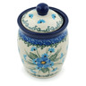 4-inch Stoneware Jar with Lid - Polmedia Polish Pottery H0687I