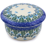 4-inch Stoneware Jar with Lid - Polmedia Polish Pottery H0696I