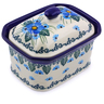 4-inch Stoneware Jar with Lid - Polmedia Polish Pottery H0747I